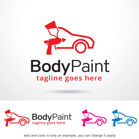 Car Body Paint marchio Template Design Vector Archivio Fotografico - 68996359