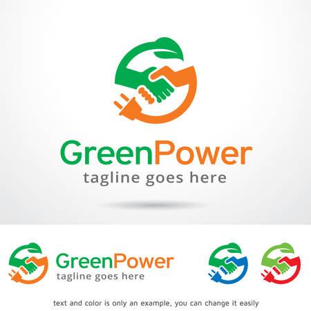 green power: Green Power Logo Template Design Vector