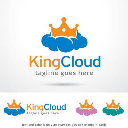 royal person: King Cloud Logo Template Design Vector