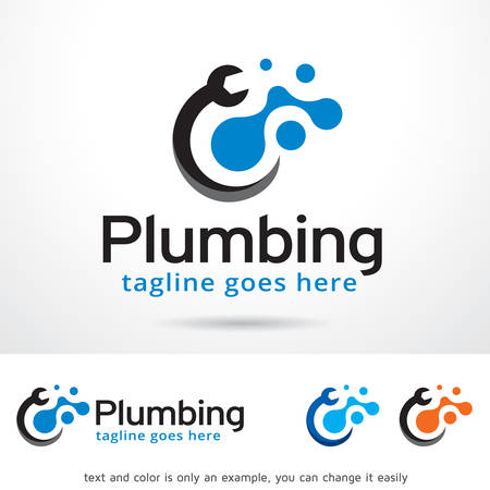 Plumbing Logo Template Design Vector