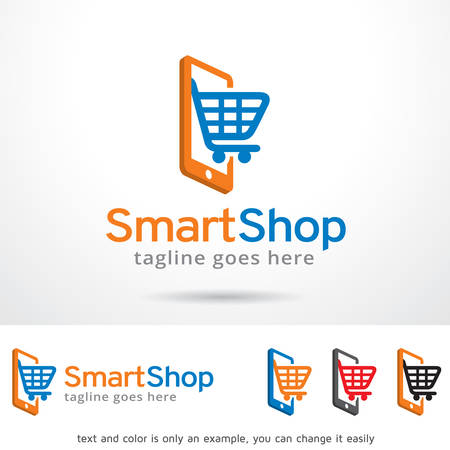 Smart Shop Logo Template Design Vector
