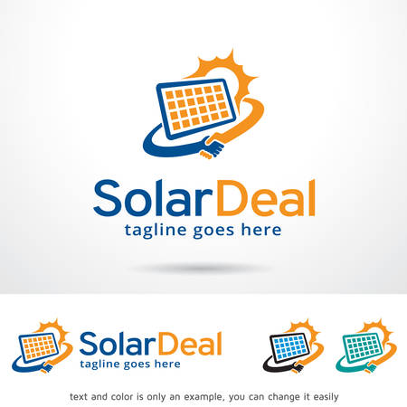 Solar Deal Logo Template Design Vector