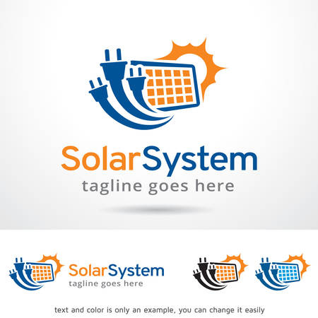Solar System Logo Template Design Vector Illustration