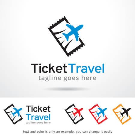 Ticket Travel Logo Template Design Vector
