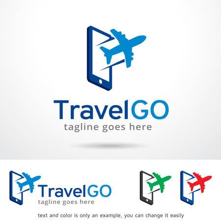Reis Go Logo Sjabloon Ontwerp Vector