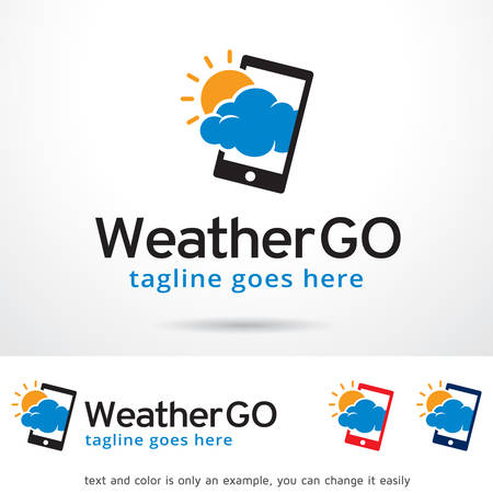 go to store: Weather Go Logo Template Design Vector Illustration