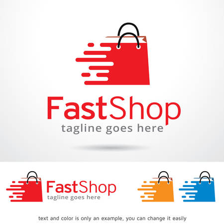 Fast Shop Logo Template Design Vector Vectores