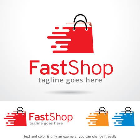 Fast Shop Logo Template Design Vector Illusztráció