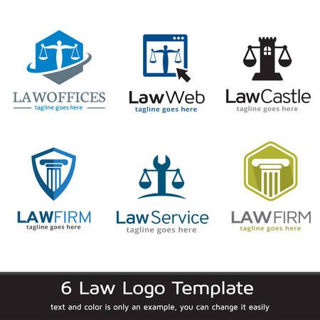Law Logo Template Design Vektor Logo