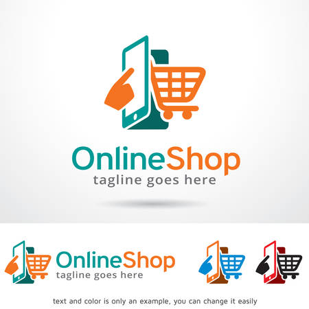Online Shop Logo Template Design Vector
