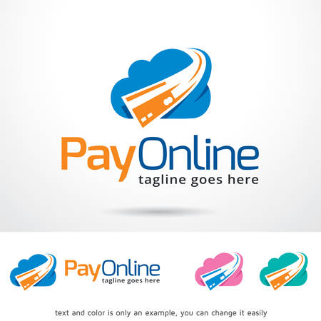 Pay Online Logo Template Design Vector