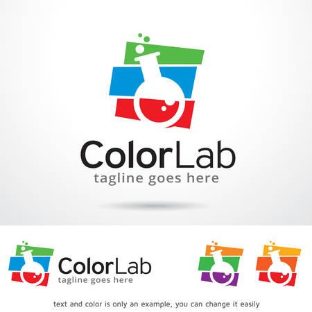 Logo Color Lab plantilla de diseño vectorial Foto de archivo - 69258170