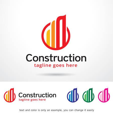 Abstract Construction Logo Template Design Vector