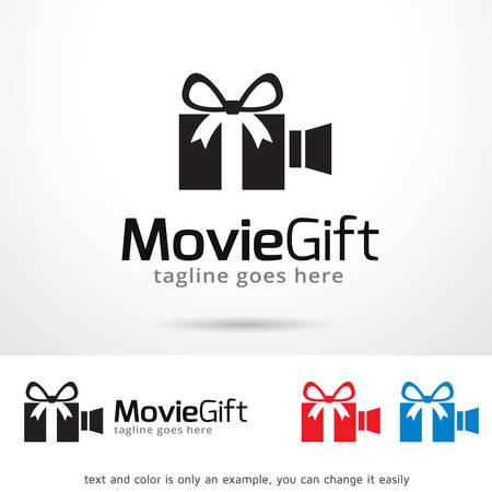Movie Gift Logo Template Design Vector