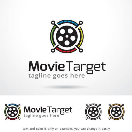 Movie Target Logo Template Design Vector
