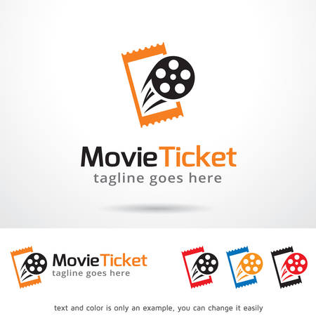 Film Ticket Logo Template Ontwerp Vector
