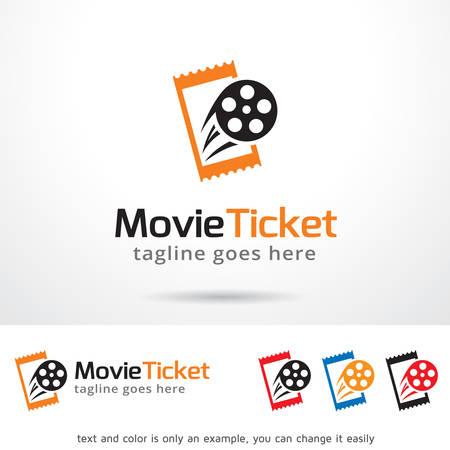 Movie Ticket Logo Template Design Vector