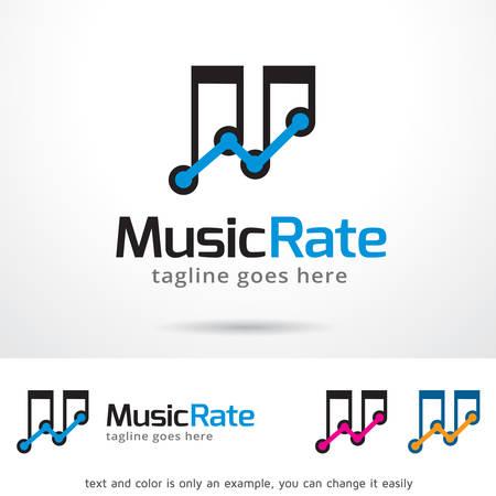 Music Rate Logo Template Design Vector
