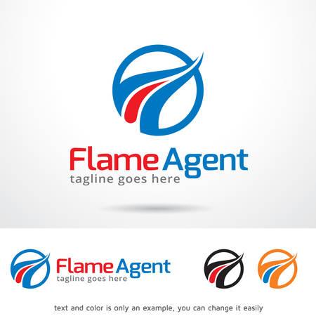 Agent Flame Logo Template Design Vector Logo