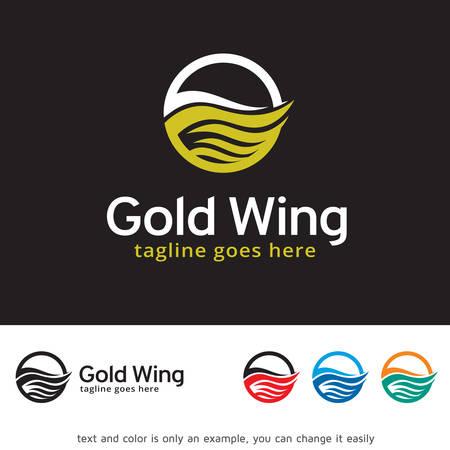 Wing Fly Logo Template Design Vector