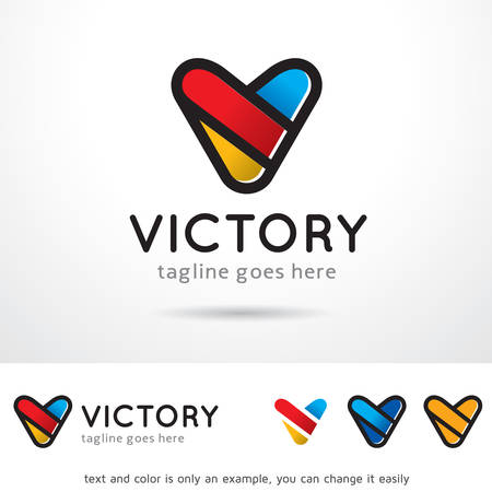 Letter V Logo Template Design Vector