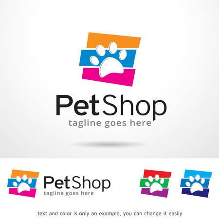 Pet Shop Logo Sjabloon Design Vector Stock Illustratie