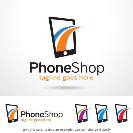 phone logo: Phone Logo Template Design Vector