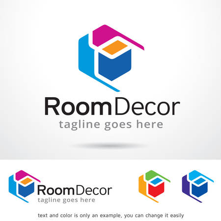 Room Decor Logo Template Design Vector