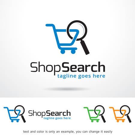 Shop Search Logo Template Design Vector