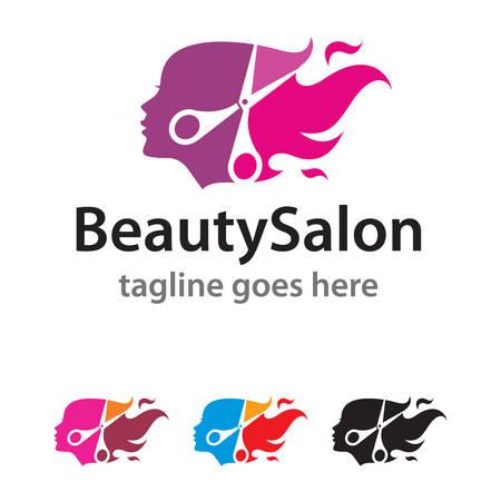 beauty shop: Beauty Salon Logo Template Design Vector