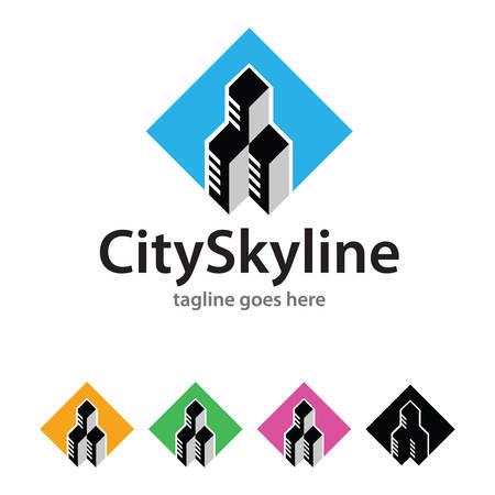 City Skyline Logo Template Design Vector Illustration