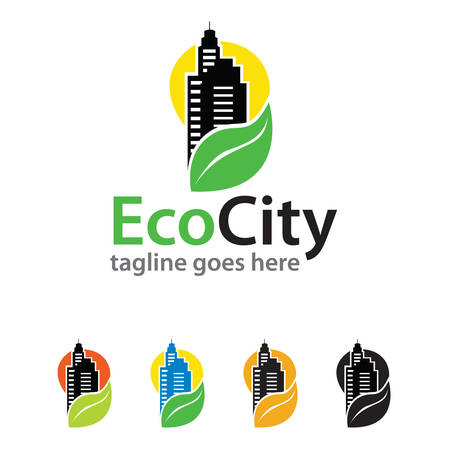 Eco City Logo Template Design Vector Ilustracja