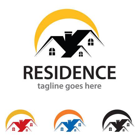 residence: Residence Logo Template Design Vector