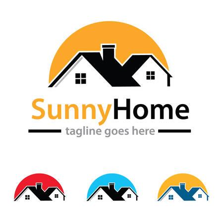 house logo: Property House Logo Template Design Vector