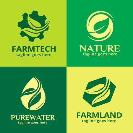 Green Nature Template Design Vector Иллюстрация