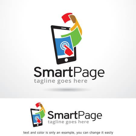 Smart Page Logo Template Design Vector