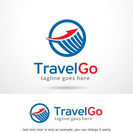 go to store: Travel Go Logo Template Design Vector