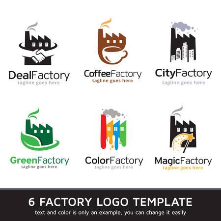 Factory Logo Template Design Vector