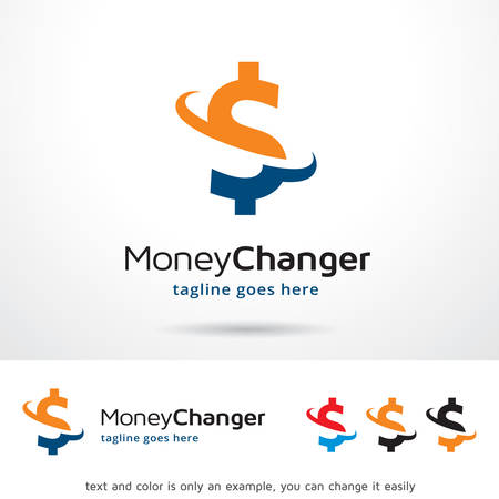 Money Changer Logo Template Design Vector