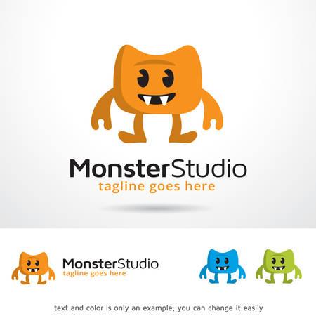 Monster Studio Logo Template Design Vector Ilustrace