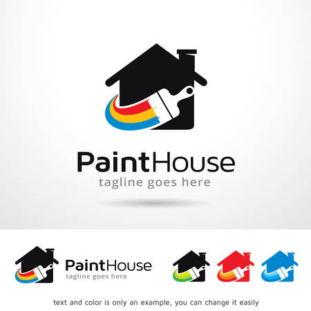 Paint House Logo Template Vector