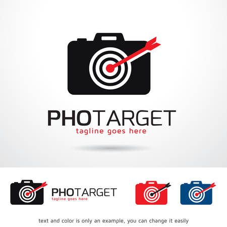 Photo Target Logo Template Design Vector