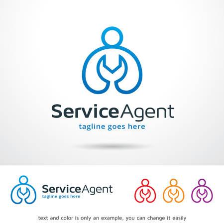 Service Agent Template Design Vector