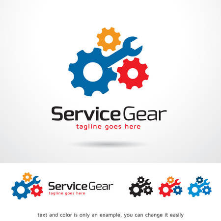 pin code: Service Gear Logo Template Design Vector