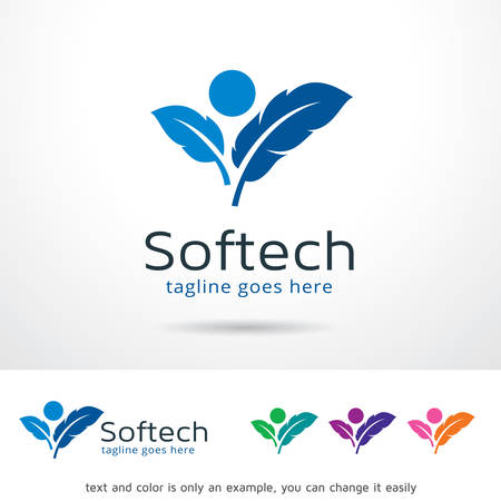 Soft Tech   Template Design Vector
