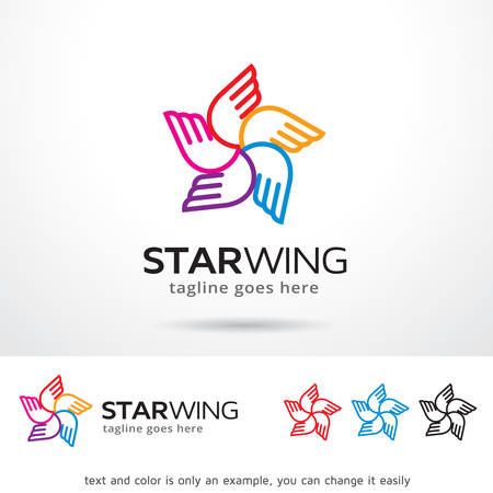 Star Wing   Template Design Vector