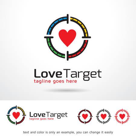 Love Target Logo Template Design