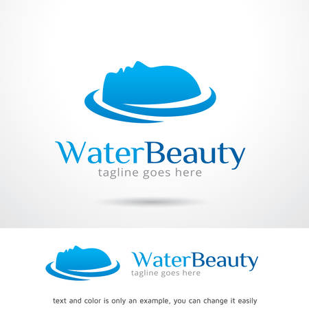 Water Beauty Logo Template Design Banque d'images - 72933337