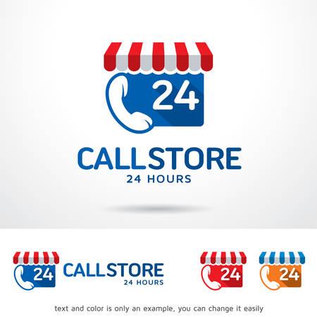 Call Store Logo Sjabloon Ontwerp Vector, Embleem, Ontwerp Concept, Creatief Symbool, Pictogram Stock Illustratie