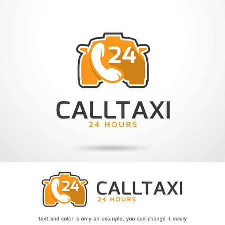 Call Taxi Logo Template Design Vector, Emblem, Design Concept, Creative Symbol, Icon 矢量图像